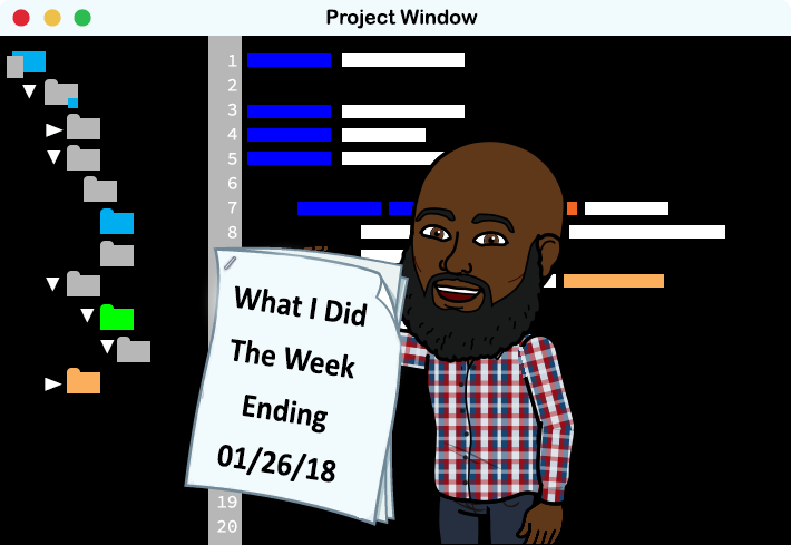 What I Did This Past Week 01 26 2018